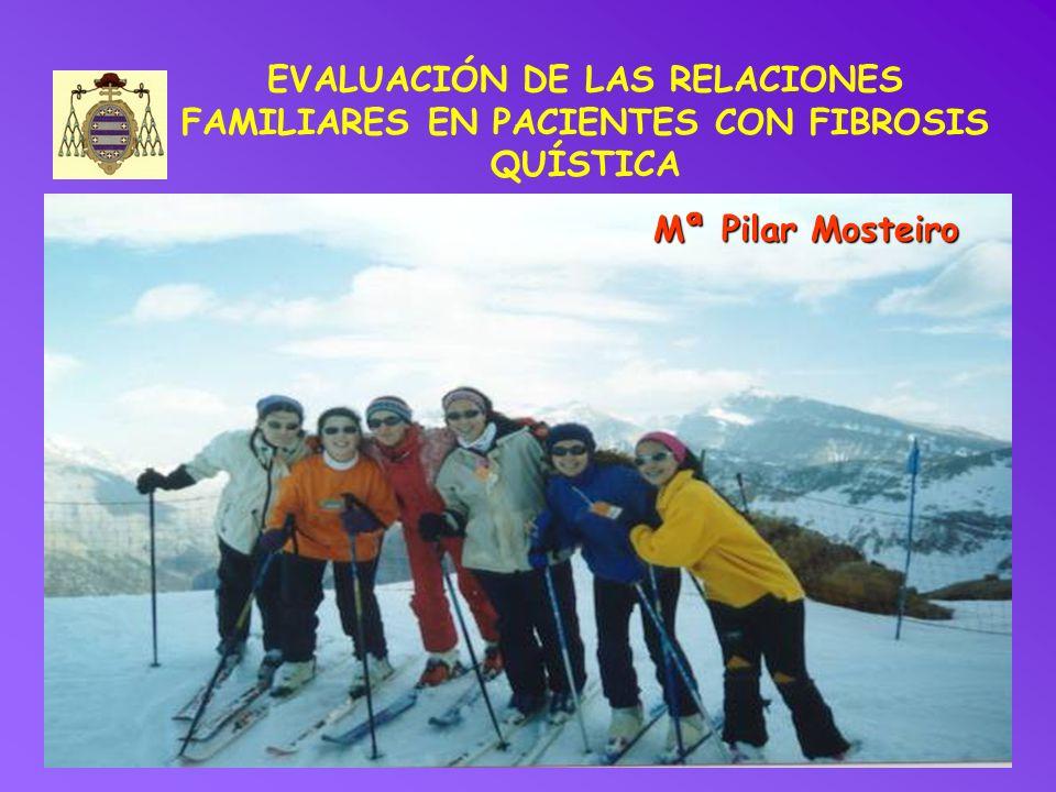 EVALUACIÓN DE LAS RELACIONES FAMILIARES EN PACIENTES CON FIBROSIS QUÍSTICA Mª Pilar Mosteiro
