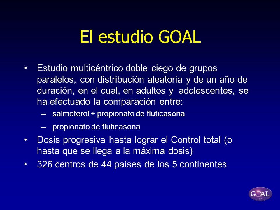 El estudio GOAL Estudio multicéntrico doble ciego de grupos paralelos, con distribución aleatoria y de un año de duración, en el cual, en adultos y ad