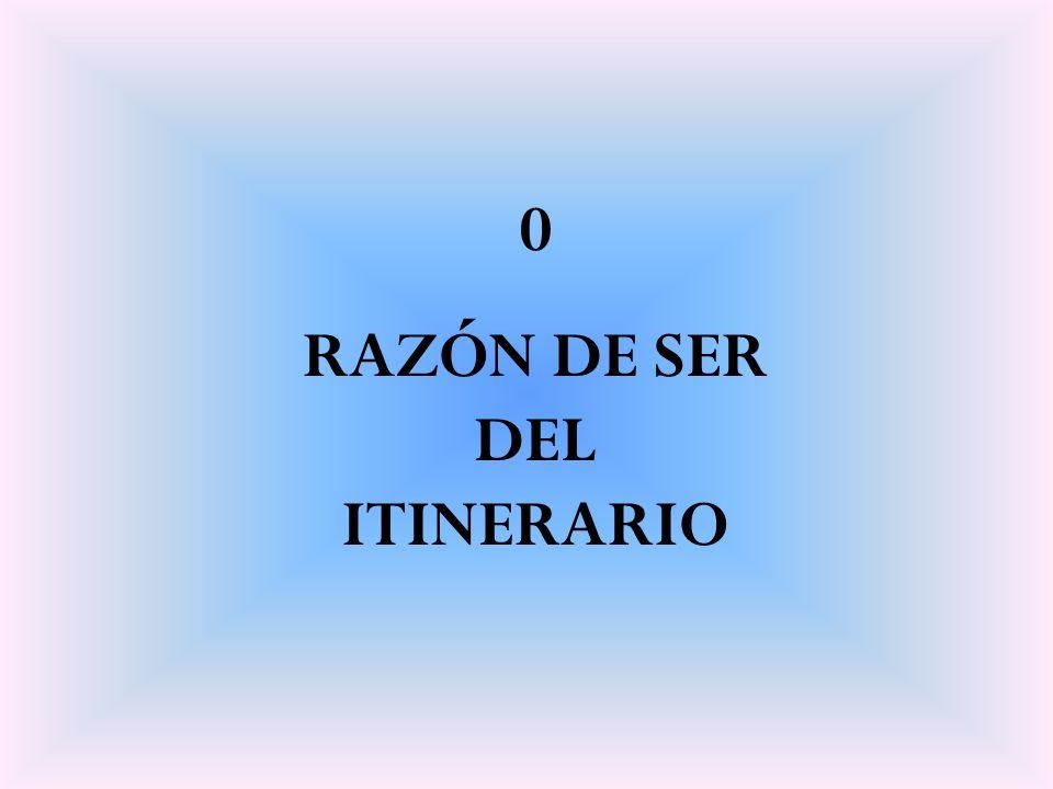 0 RAZÓN DE SER DEL ITINERARIO