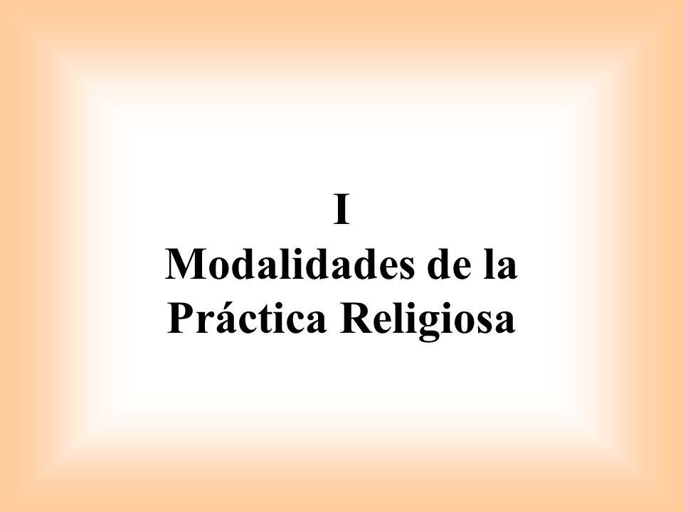 I Modalidades de la Práctica Religiosa