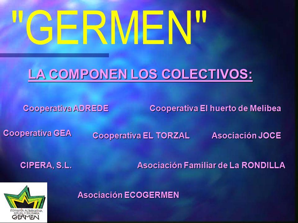 LA COMPONEN LOS COLECTIVOS: Cooperativa ADREDE Cooperativa El huerto de Melibea Cooperativa GEA Cooperativa EL TORZAL CIPERA, S.L.