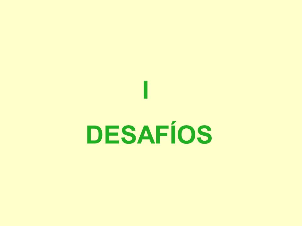 I DESAFÍOS