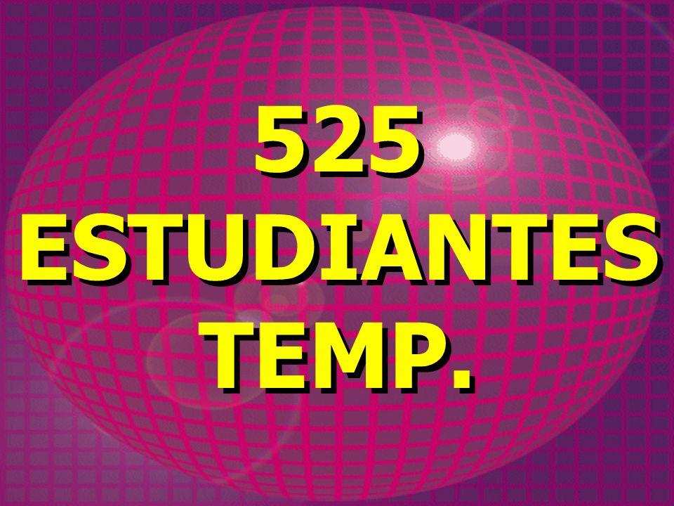 525 ESTUDIANTES TEMP. 525 ESTUDIANTES TEMP.