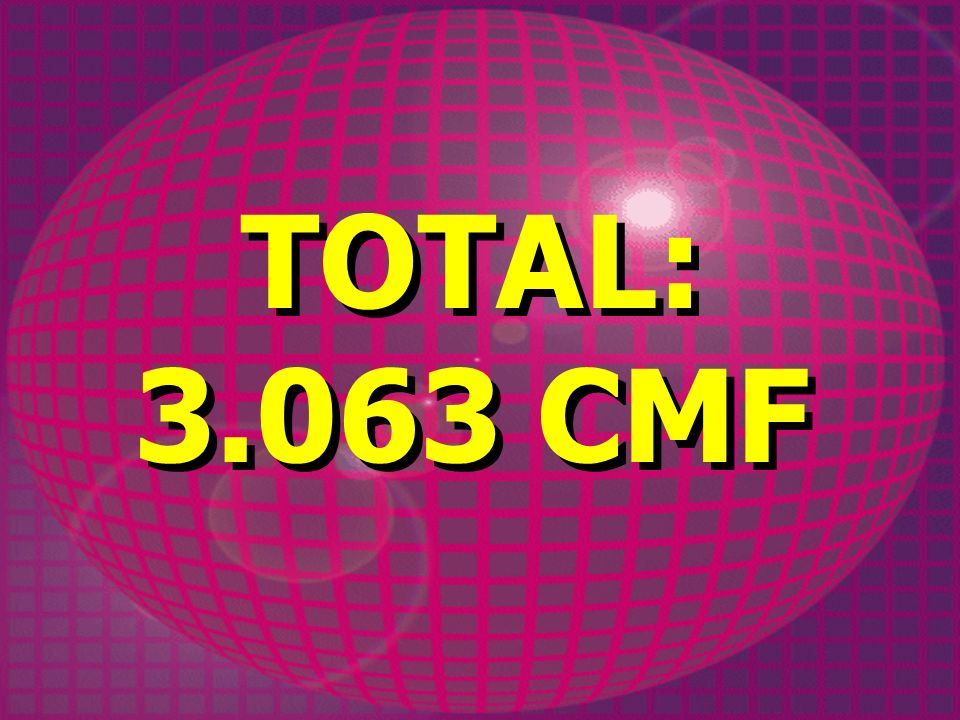 TOTAL: 3.063 CMF TOTAL: 3.063 CMF