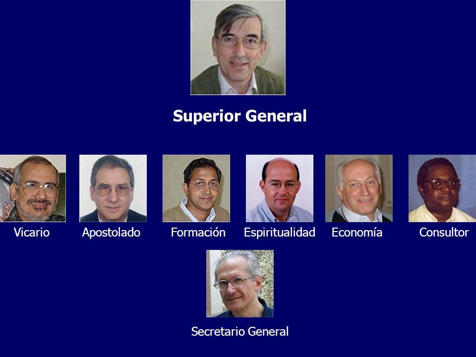 Superior General VicarioApostoladoFormaciónEspiritualidadEconomíaConsultor Secretario General