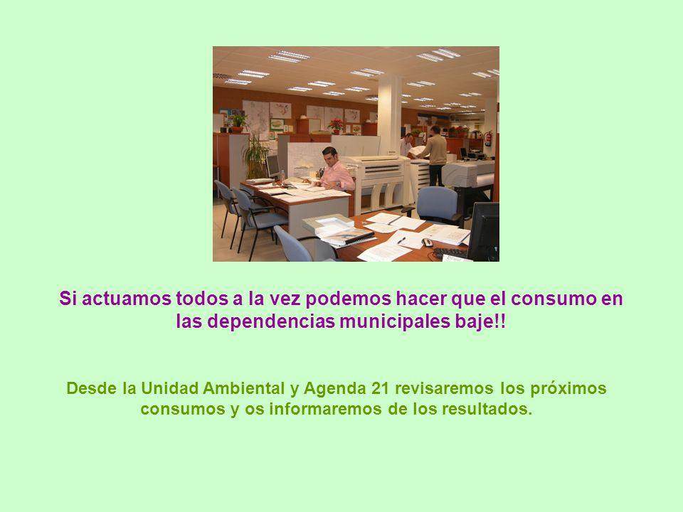 Si actuamos todos a la vez podemos hacer que el consumo en las dependencias municipales baje!.