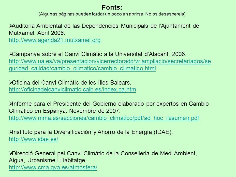 Fonts: (Algunas páginas pueden tardar un poco en abrirse.