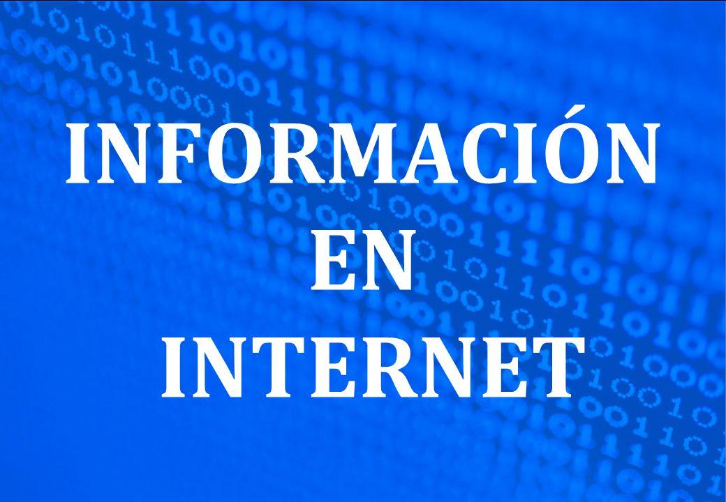 INFORMACIÓN EN INTERNET