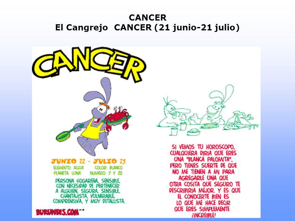CANCER El CangrejoCANCER (21 junio-21 julio)