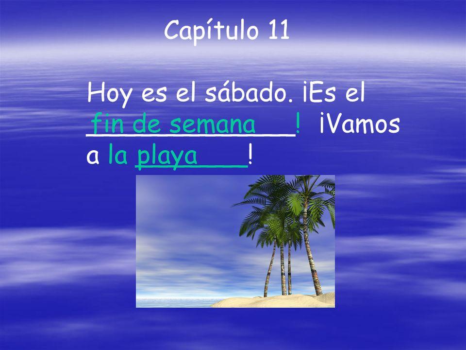 Hoy es el sábado. ¡Es el _____________! ¡Vamos a la _______! Capítulo 11 fin de semana playa