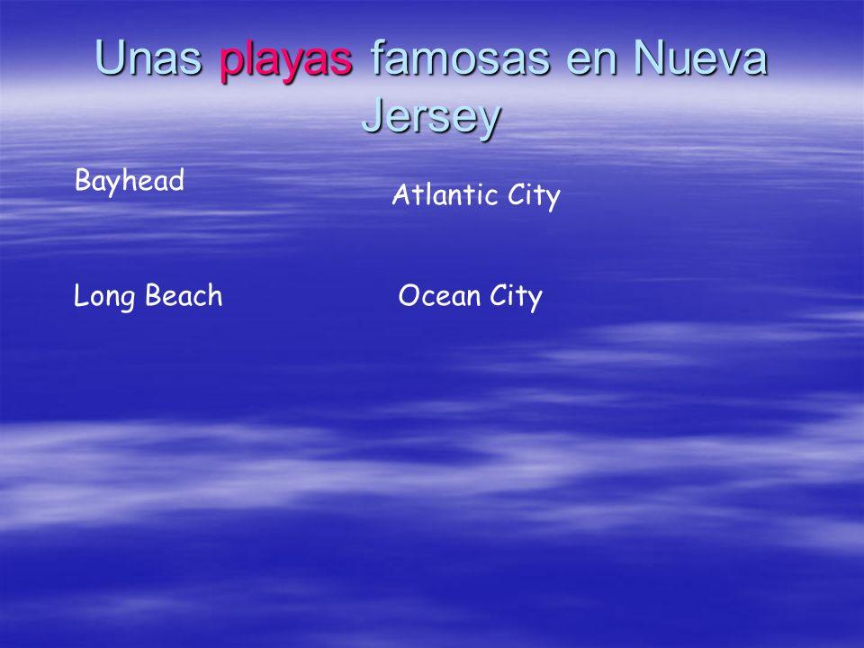 Unas playas famosas en Nueva Jersey Bayhead Atlantic City Long BeachOcean City