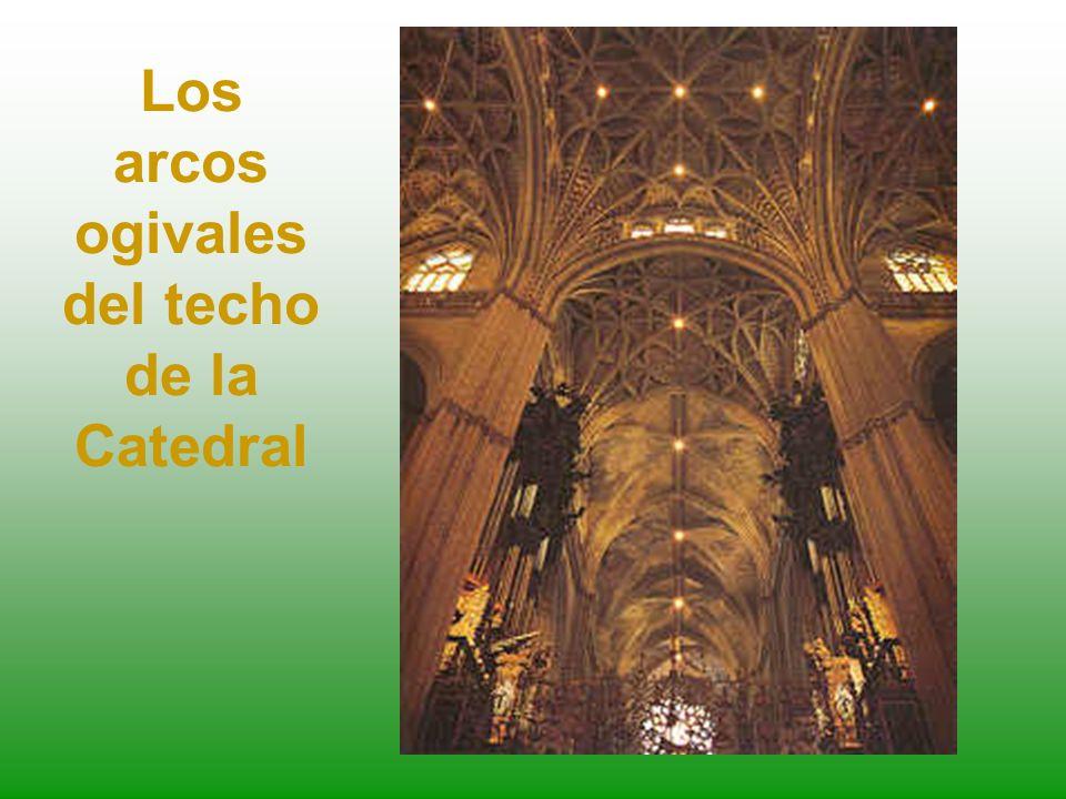 Los arcos ogivales del techo de la Catedral