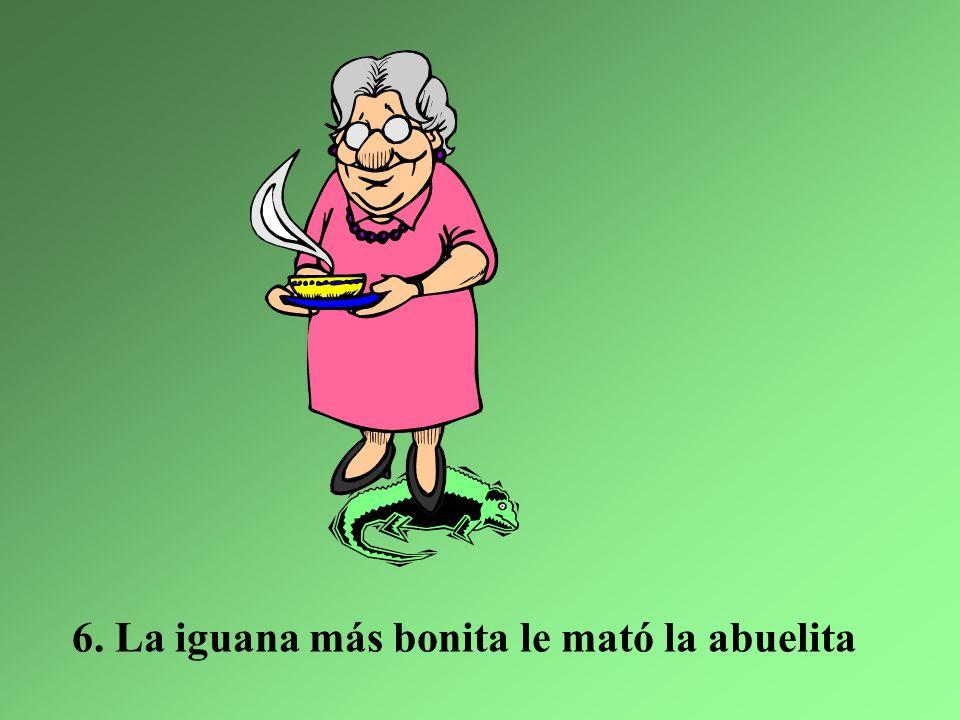 Y ahora en las montañas, hay sólo dos iguanas