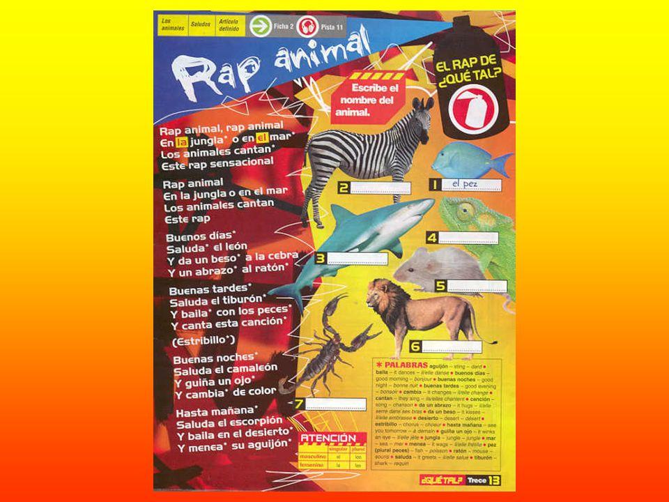 Rap animal, rap animal En la jungla o en el mar