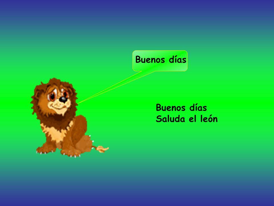 Buenos días Saluda el león