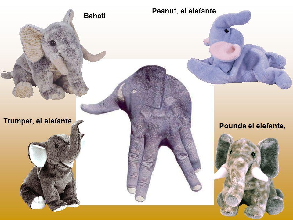 Peanut, el elefante Pounds el elefante, Trumpet, el elefante Bahati