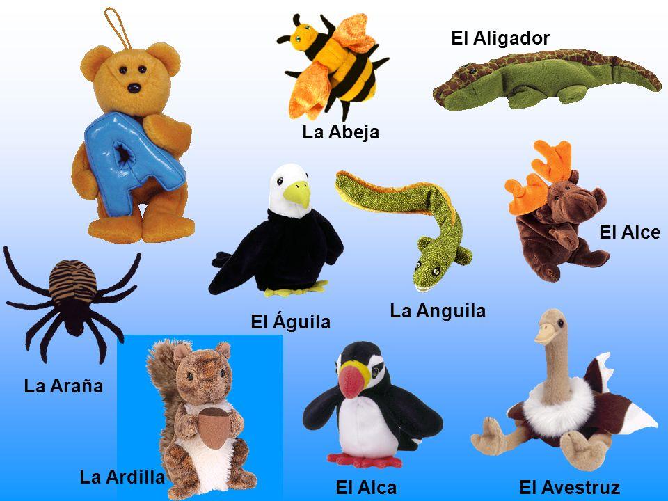 La Araña La Abeja El Avestruz El Aligador El Águila El Alce La Anguila El Alca La Ardilla