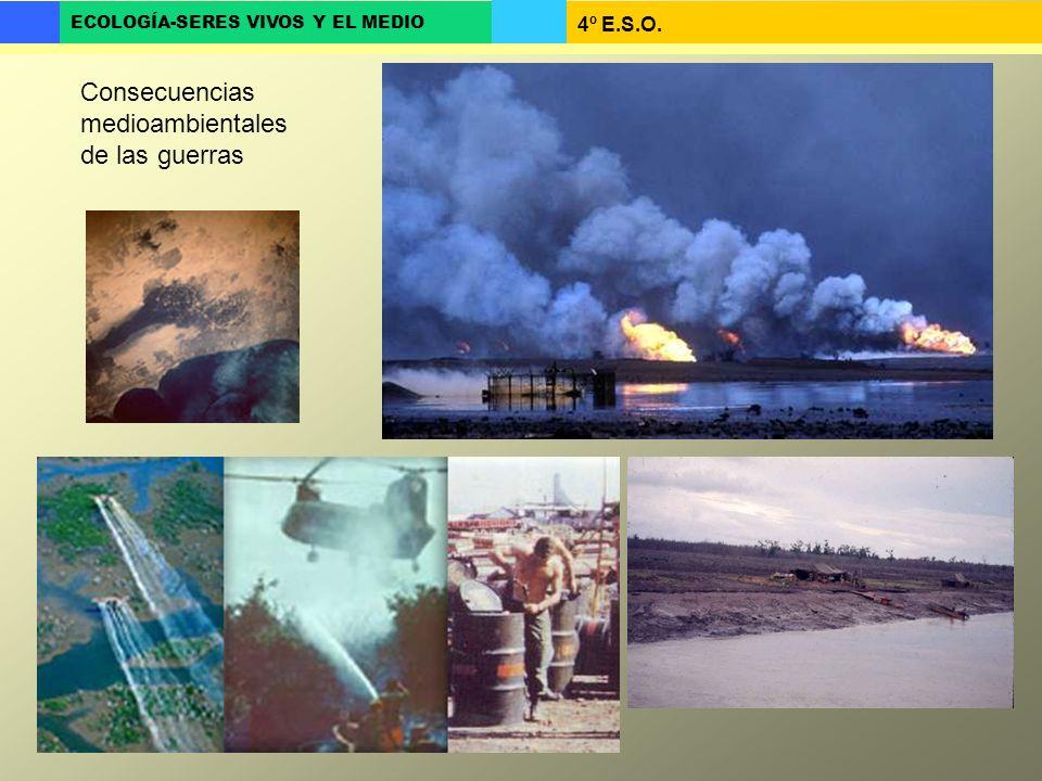 4º E.S.O. ECOLOGÍA-SERES VIVOS Y EL MEDIO Consecuencias medioambientales de las guerras