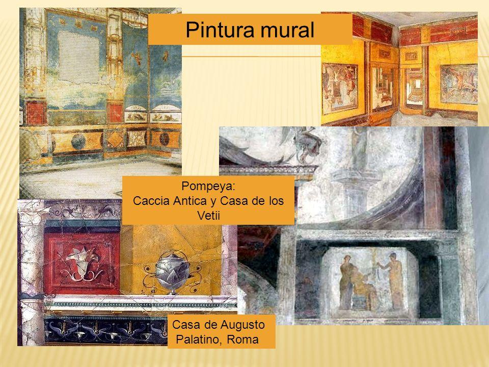 Casa de Augusto Palatino, Roma Pompeya: Caccia Antica y Casa de los Vetii Pintura mural