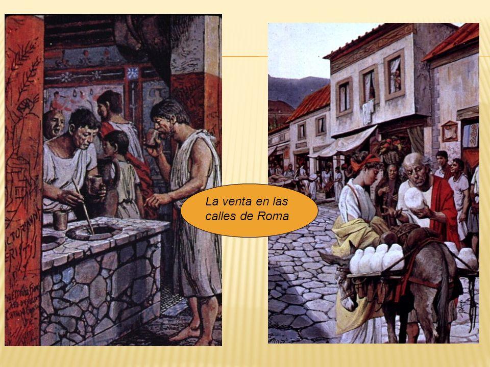 La venta en las calles de Roma