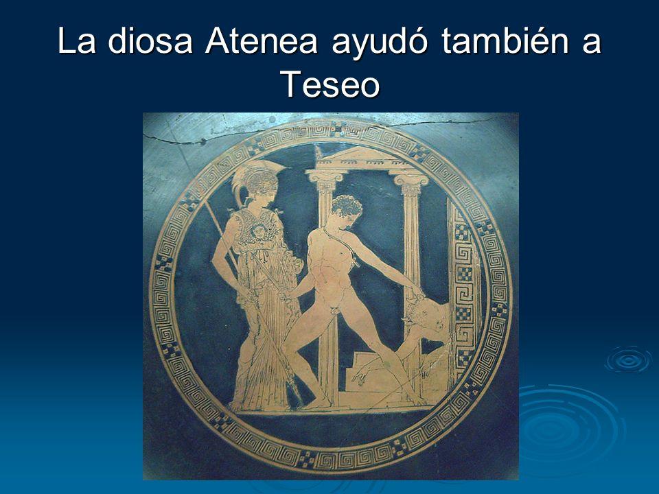 La diosa Atenea ayudó también a Teseo