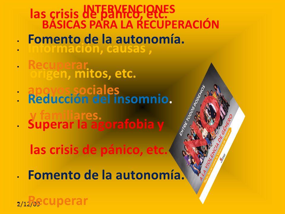 2/12/09 Información, causas, origen, mitos, etc.Reducción del insomnio.
