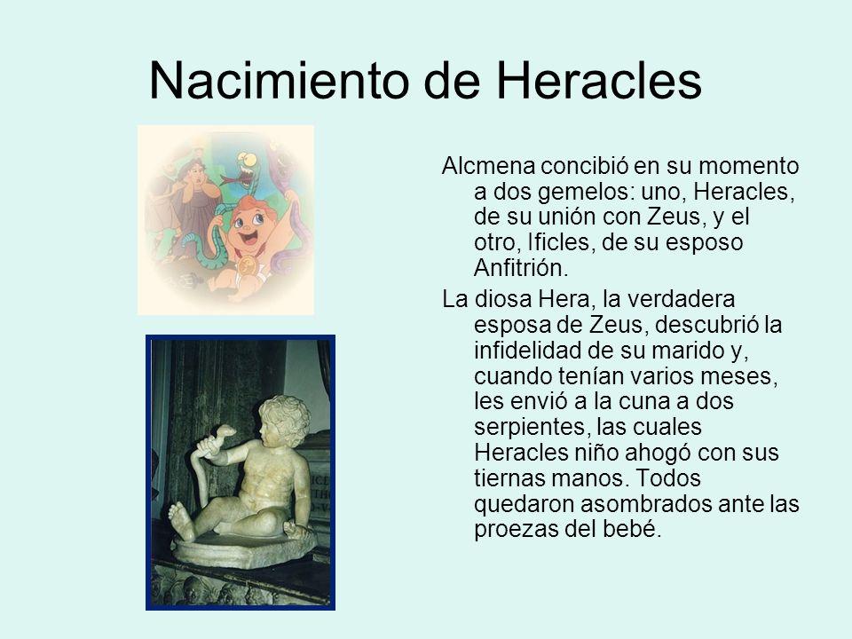 La Vía Láctea Otra leyenda surgida sobre su infancia refiere que Hermes acercó a Heracles niño al pecho de Hera, mientras ésta dormía, y que lo llegó a amamantar pero, cuando despertó, lo apartó tan violentamente que de su leche surgió la Vía Láctea.