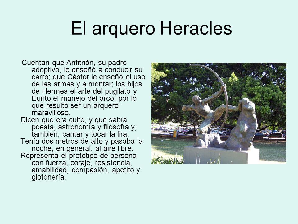Los doce trabajos de Hércules Ya adulto se casó con la hija del rey de Corinto, Megara, y tuvo una gran descendencia, conocida como los Alcides.