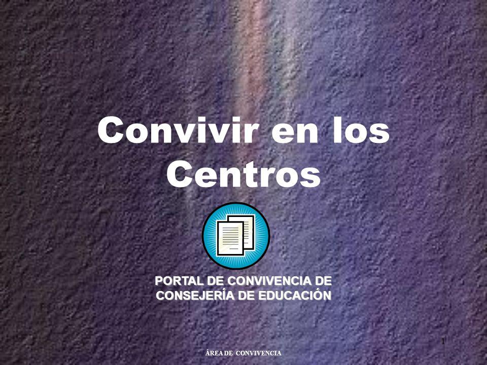 ÁREA DE CONVIVENCIA 1 Convivir en los Centros PORTAL DE CONVIVENCIA DE CONSEJERÍA DE EDUCACIÓN