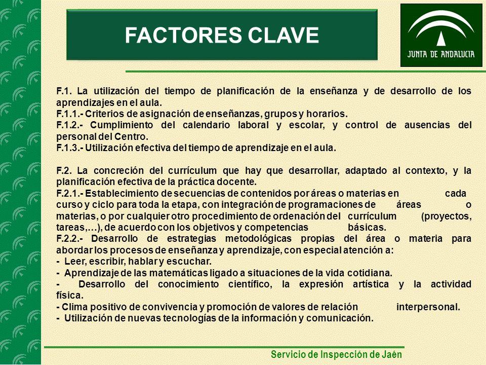 AUTOEVALUACIÓNFACTORES CLAVE F.1.
