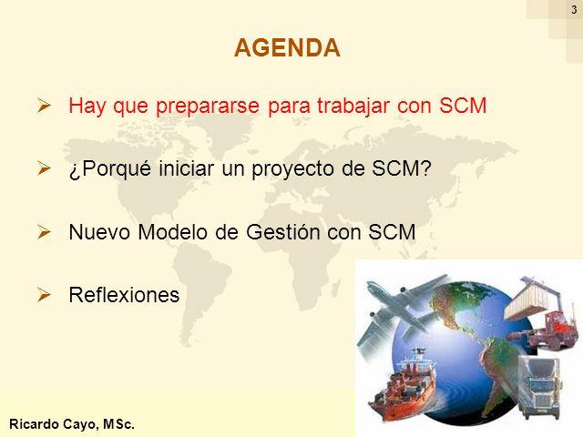 Ing. Ricardo Cayo - rcayo@expo.intercade.org - Consultor Intercade 3 Hay que prepararse para trabajar con SCM ¿Porqué iniciar un proyecto de SCM? Nuev