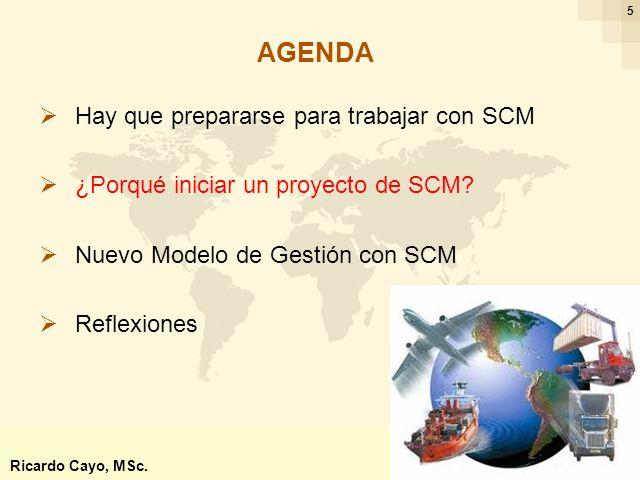 Ing. Ricardo Cayo - rcayo@expo.intercade.org - Consultor Intercade 5 Hay que prepararse para trabajar con SCM ¿Porqué iniciar un proyecto de SCM? Nuev