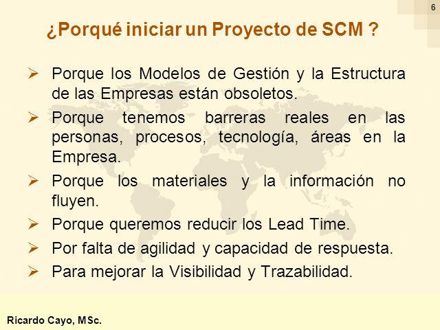 Ing. Ricardo Cayo - rcayo@expo.intercade.org - Consultor Intercade 27 Scor Ricardo Cayo, MSc.