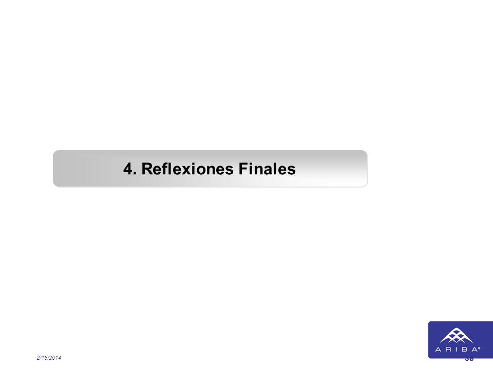 2/16/2014 38 4. Reflexiones Finales
