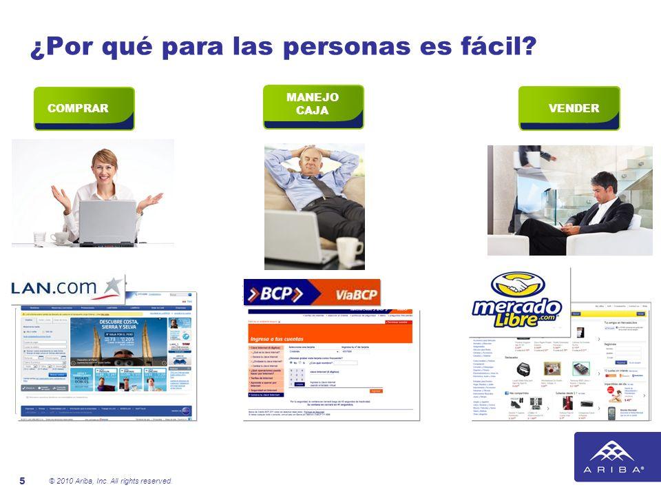 © 2010 Ariba, Inc. All rights reserved. 5 COMPRAR ¿Por qué para las personas es fácil? VENDER MANEJO CAJA