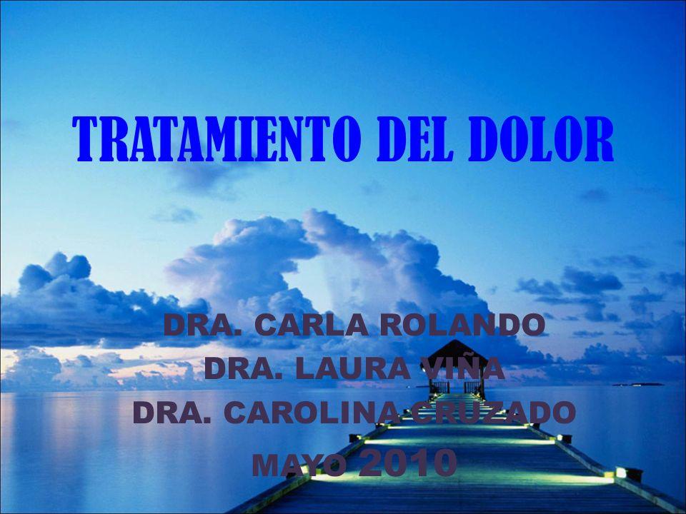 TRATAMIENTO DEL DOLOR DRA. CARLA ROLANDO DRA. LAURA VIÑA DRA. CAROLINA CRUZADO MAYO 2010