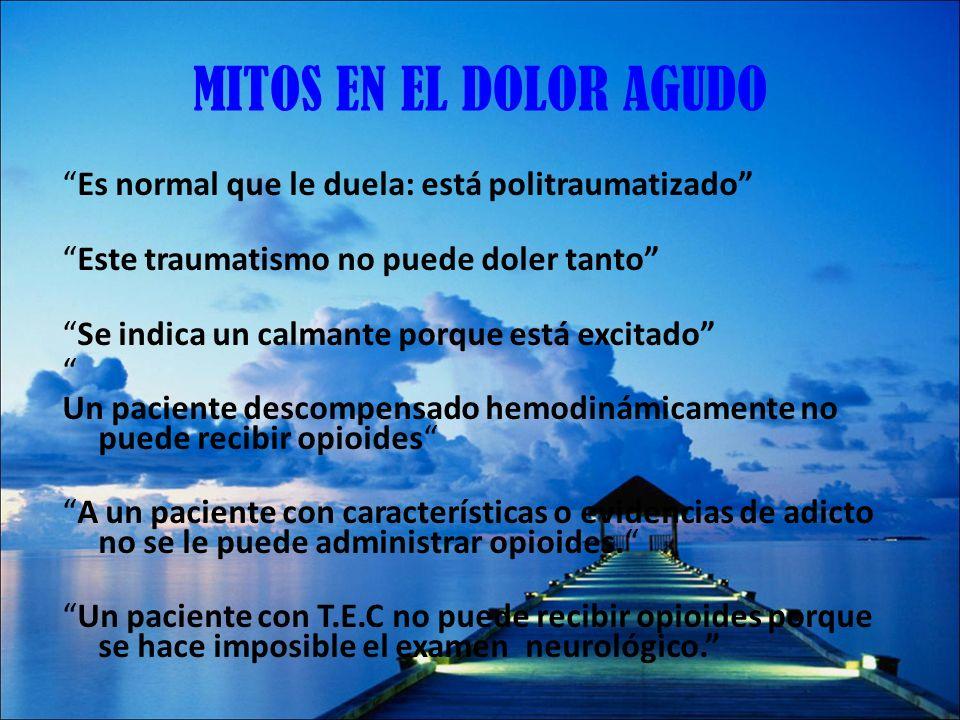 METADONA OPIOIDE DE ELECCION PARA: EL DOLOR NEUROPATICO ROTACION DE OPIOIDES cuanto mayor es la dosis previa de morfina menor es la dosis de metadona.