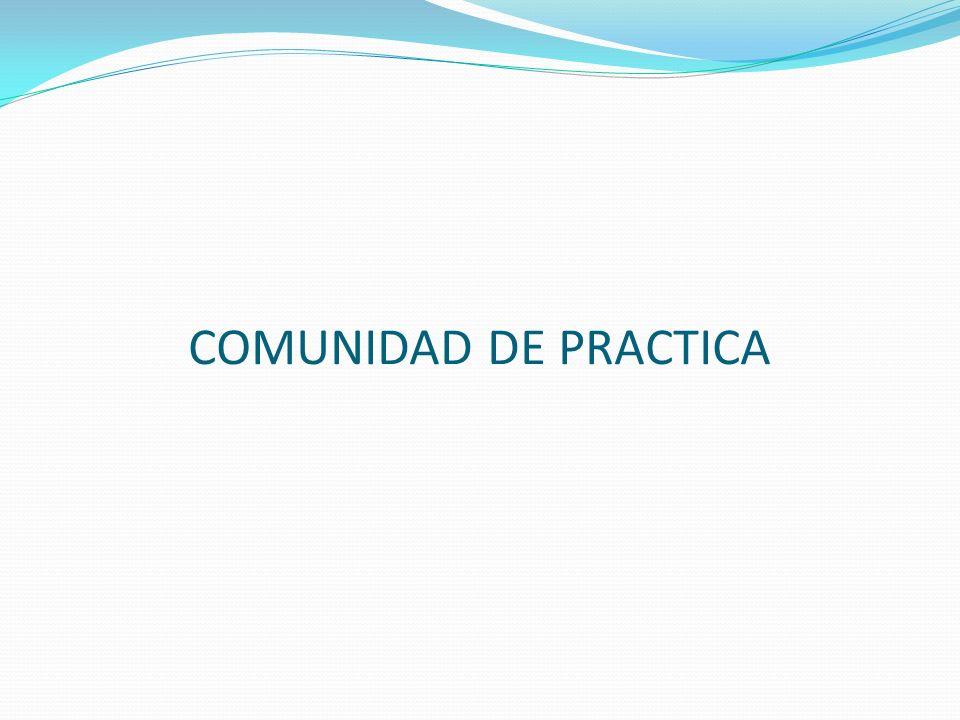 COMUNIDAD DE PRACTICA