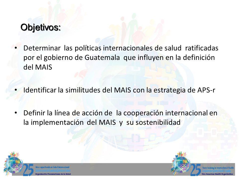 9 Marco conceptual: La estructura económica y social de Guatemala determina condiciones que han llevado a la implementación de modelos de atención limitados y excluyentes.