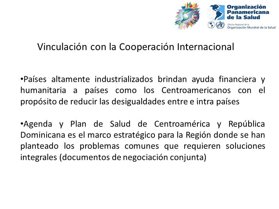 Países altamente industrializados brindan ayuda financiera y humanitaria a países como los Centroamericanos con el propósito de reducir las desigualda