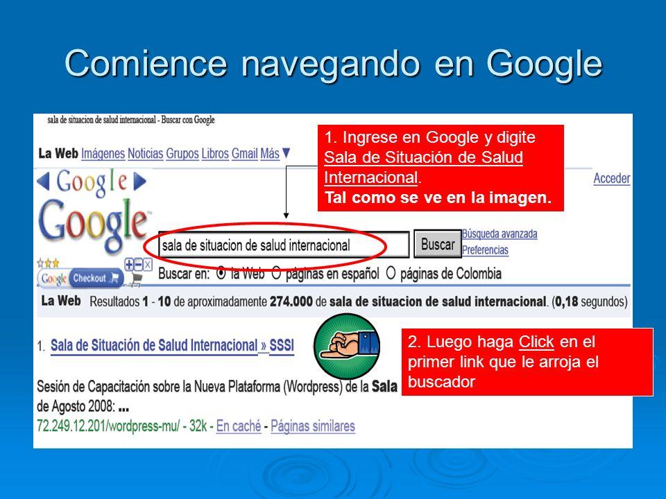 Comience navegando en Google 1.