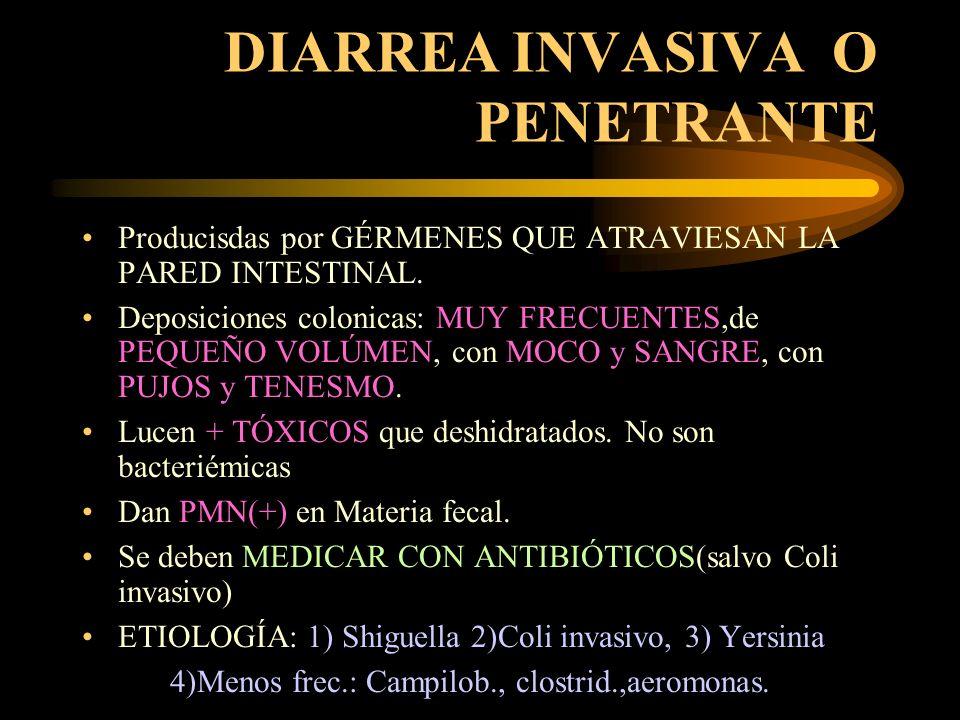 DIARREA ADHESIVA Diarreas LEVES a MODERADAS o PROLONGADAS, que ALTERAN ESTADO NUTRICIONAL.