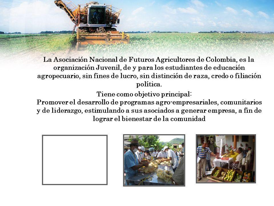 La Asociación Nacional de Futuros Agricultores de Colombia, es la organización Juvenil, de y para los estudiantes de educación agropecuario, sin fines