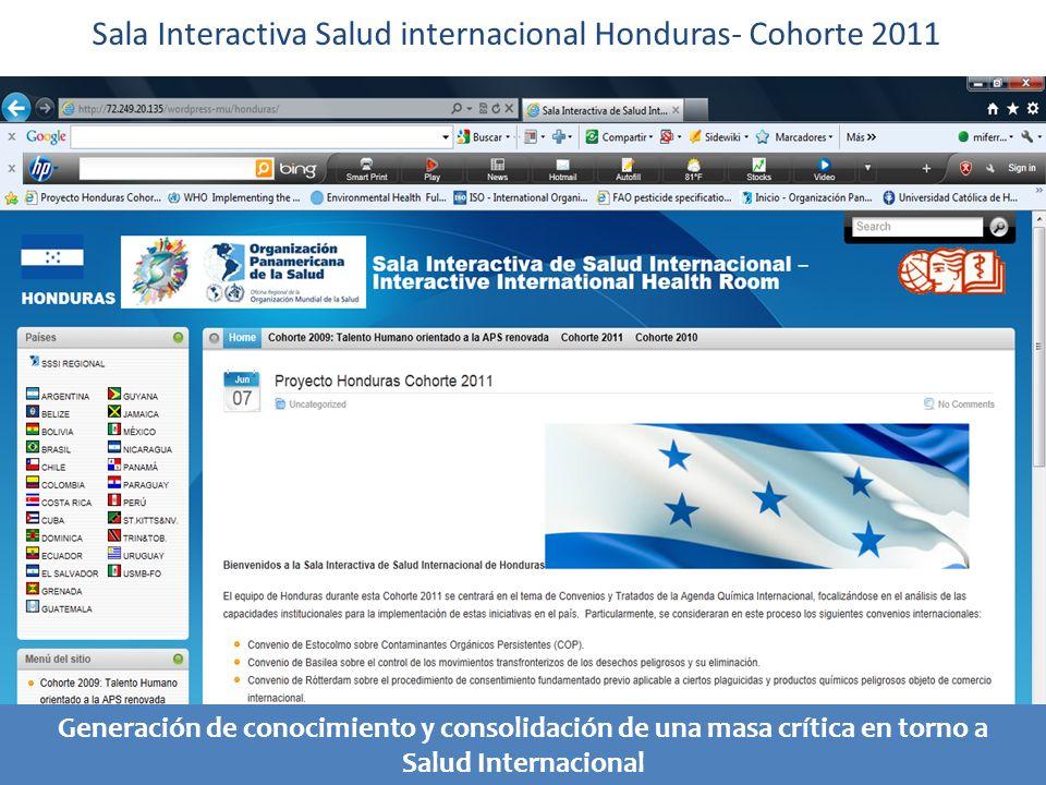 Sala Interactiva Salud internacional Honduras- Cohorte 2011 Generación de conocimiento y consolidación de una masa crítica en torno a Salud Internacional
