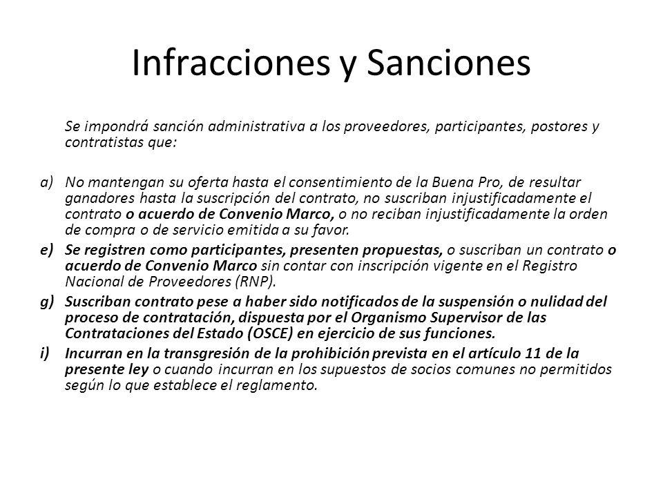 Infracciones y Sanciones En el caso de la infracción prevista en el literal j) del numeral 51.1 del presente artículo (documentación falsa y/o inexacta), la sanción será de inhabilitación temporal no menor de tres (3) años ni mayor de cinco (5) años.