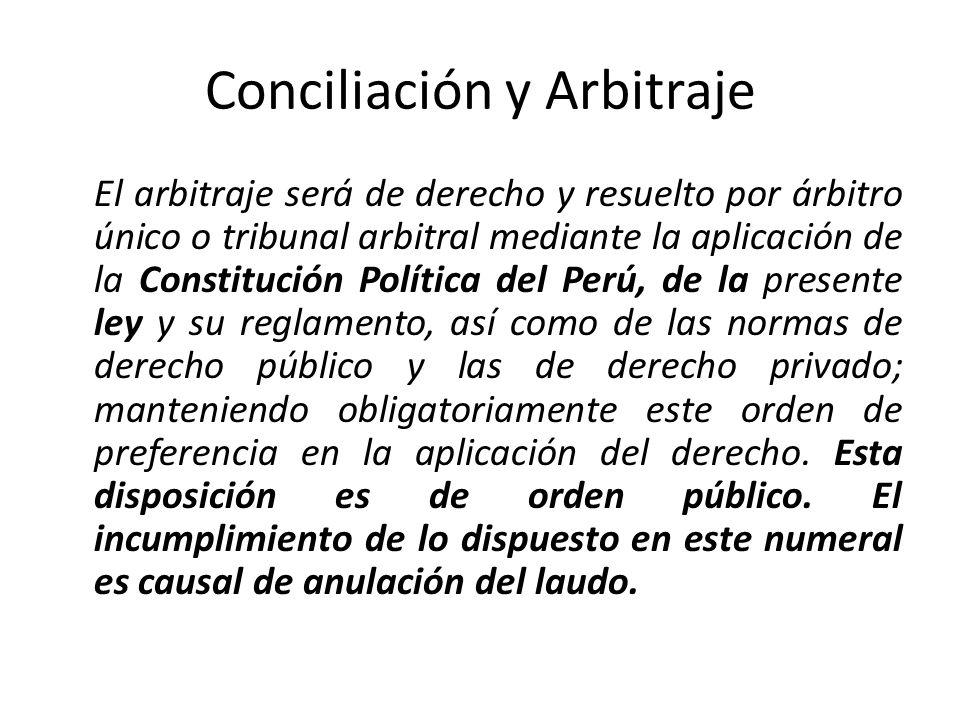 Conciliación y Arbitraje El laudo arbitral es inapelable, definitivo y obligatorio para las partes desde el momento de su notificación, debiéndose notificar a las partes en forma personal y a través del Sistema Electrónico de Contrataciones del Estado (SEACE) para efecto de su validez.
