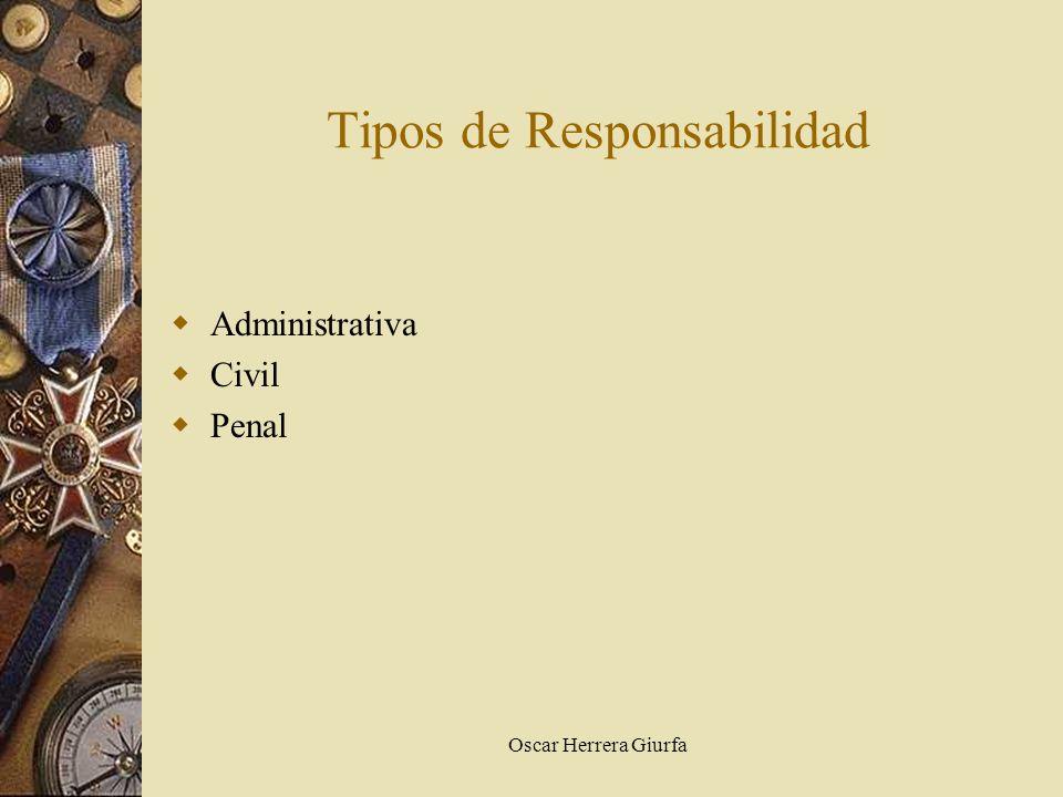 Oscar Herrera Giurfa Tipos de Responsabilidad Administrativa Civil Penal