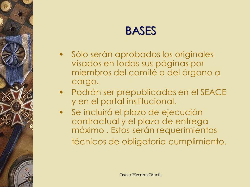 Oscar Herrera Giurfa Sólo serán aprobados los originales visados en todas sus páginas por miembros del comité o del órgano a cargo. Podrán ser prepubl