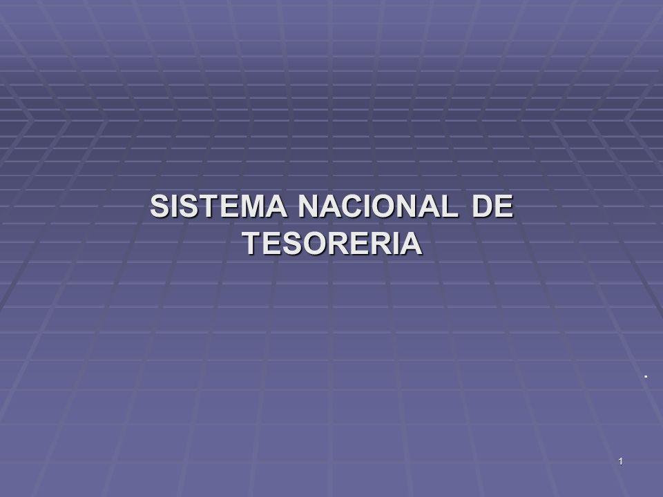 1 SISTEMA NACIONAL DE TESORERIA.