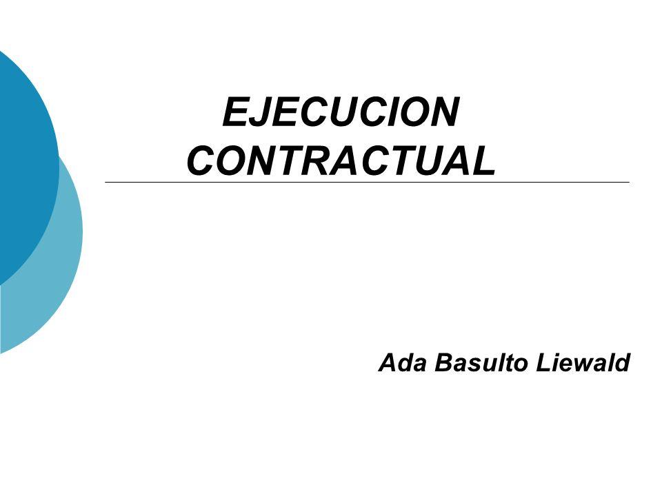 EJECUCION CONTRACTUAL Ada Basulto Liewald
